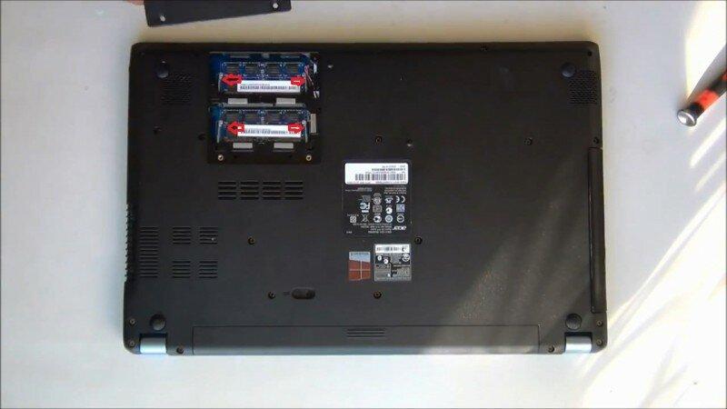 разобрать Acer Aspire V5 571 MS2361 оперативная память