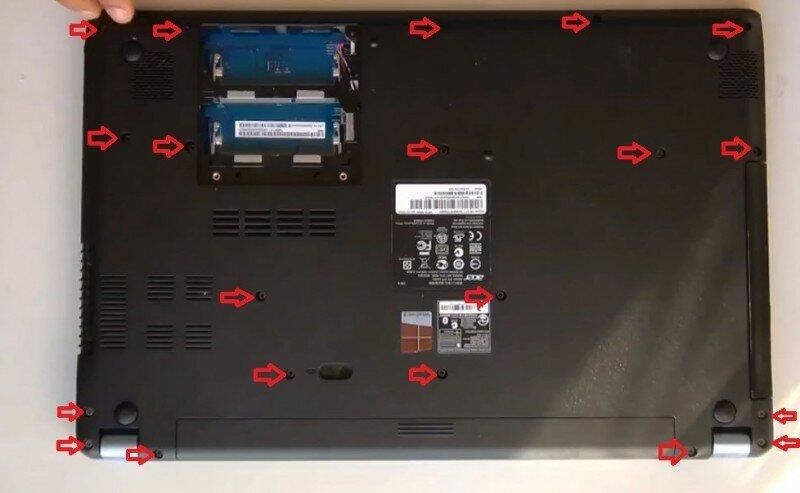 разобрать Acer Aspire V5 571 MS2361