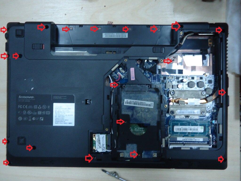 разборка Lenovo G570 (инструкция в картинках)