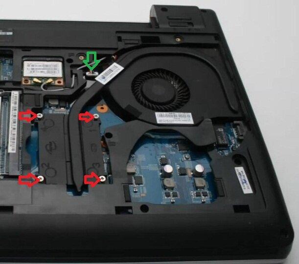 Разборка Lenovo E335 система охлаждения