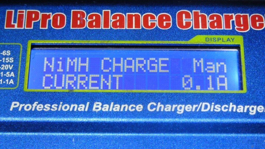 Заряд аккумулятора NiMH током 0.1A