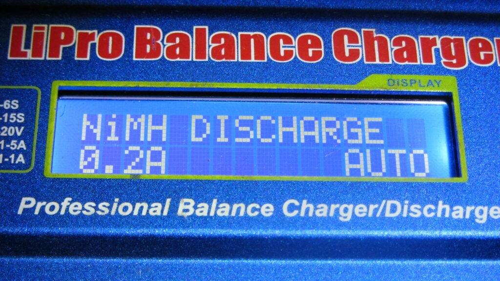 Разряд аккумулятора NiMH током 0.2A