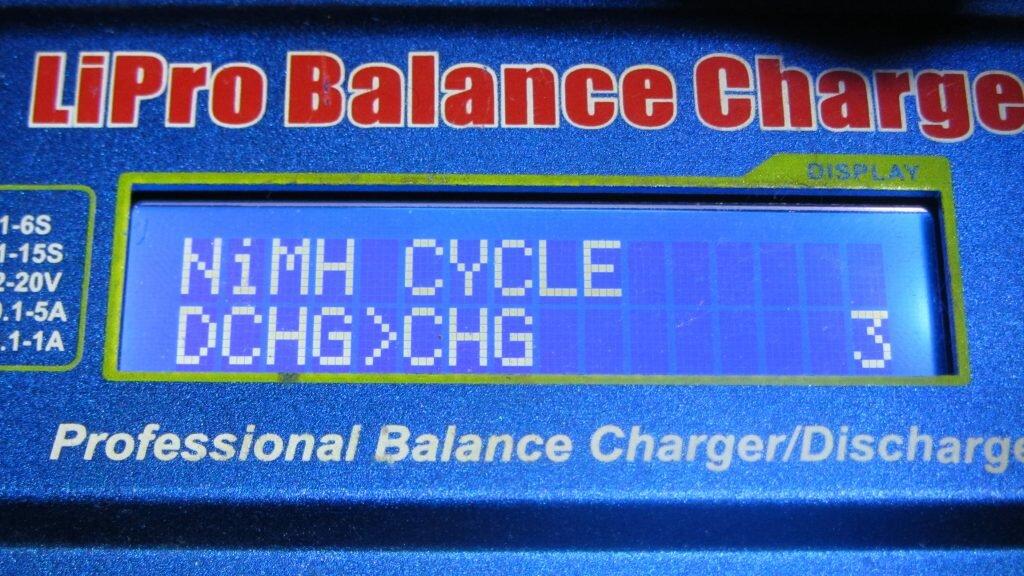 Режим циклирования, разряд-заряд, количество циклов 3