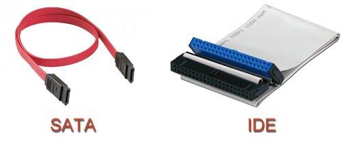 Кабеля передачи данных SATA и IDE