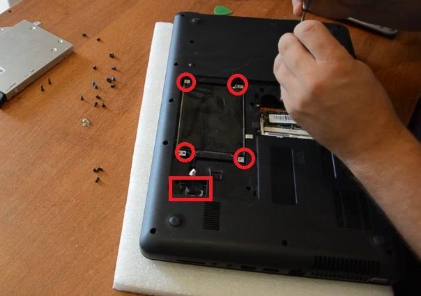 Как разобрать HP630 -HP650