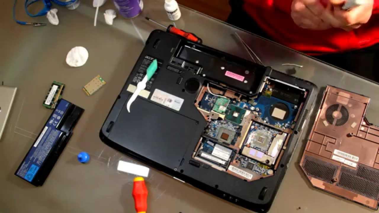 Разборка Acer 7720 (инструкция в картинках)