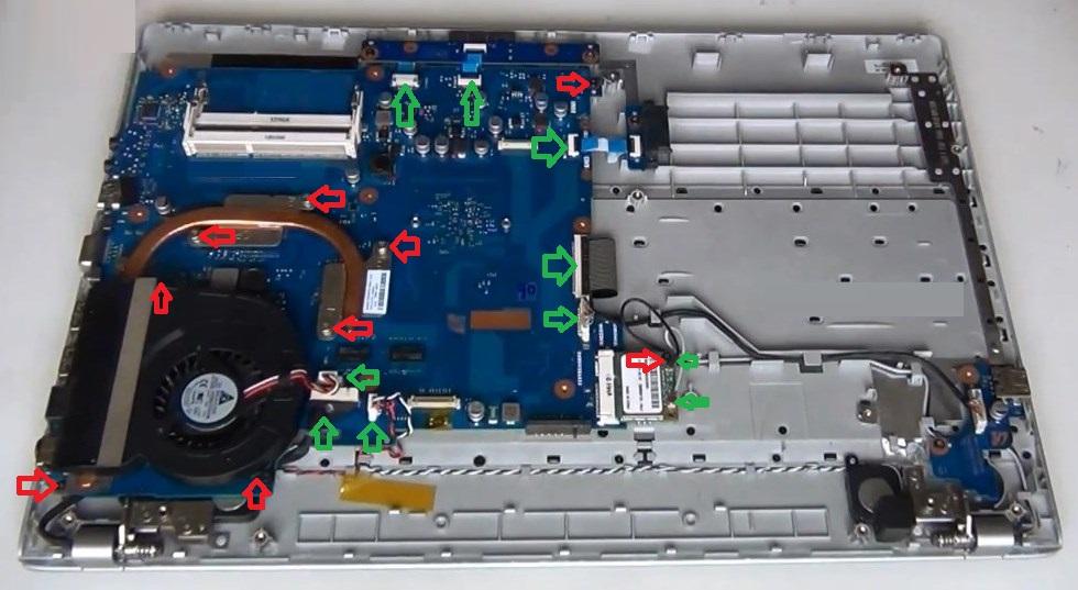 Разборка Samsung RF510