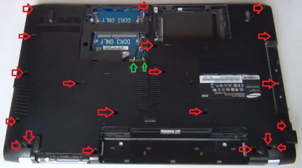 разобрать Samsung R730 (R720) жесткий диск